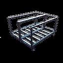 BATEKO - stół rolkowy podwójny z barierkami 1400x1050mm  - sklep internetowy